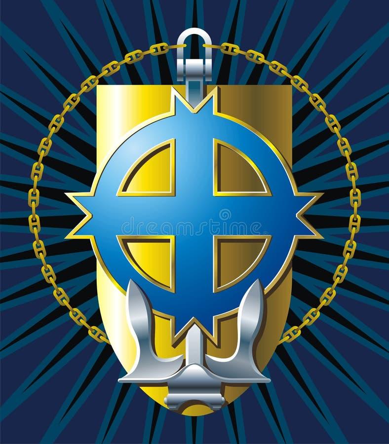 MARINE-Emblem. stock abbildung