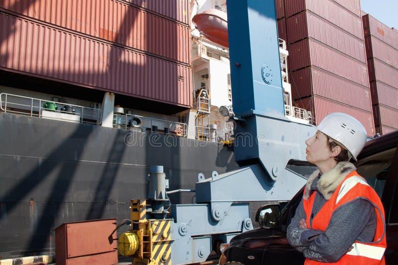 Marine engineer royalty free stock photo
