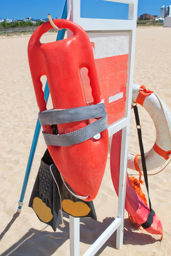 Download Marine Equipment Lifeguard At The Beach. Stock Photo - Image: 24585762