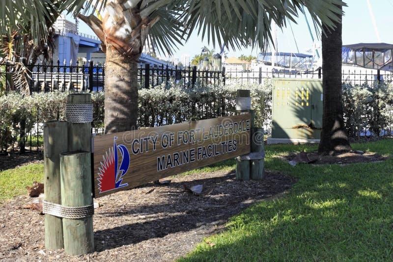 Marine Facilities Sign