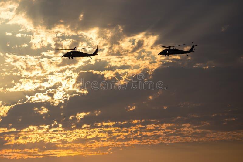 Marine Helicopters dichtbij Mirimar-MCB royalty-vrije stock foto