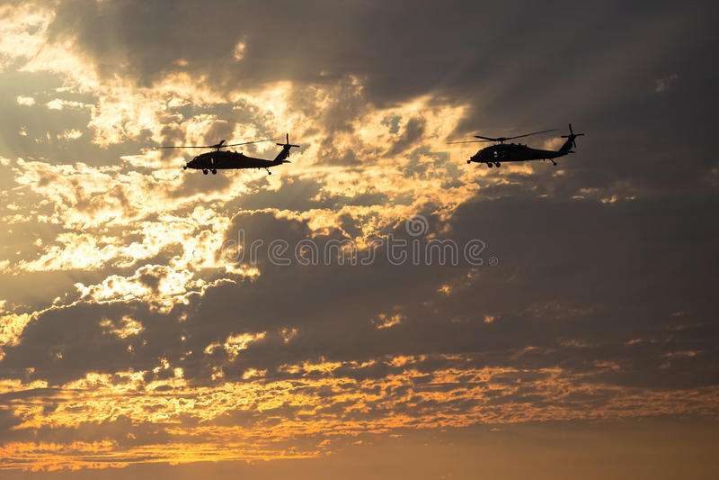 Marine Helicopters perto dos MCAS de Mirimar foto de stock royalty free