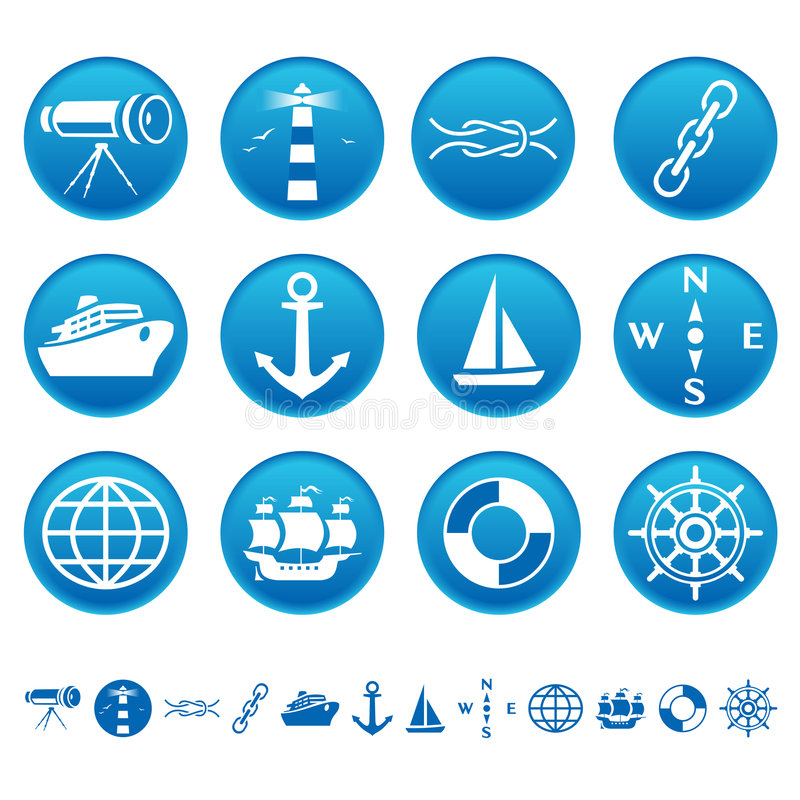Free Marine Icons Stock Photography - 6635712
