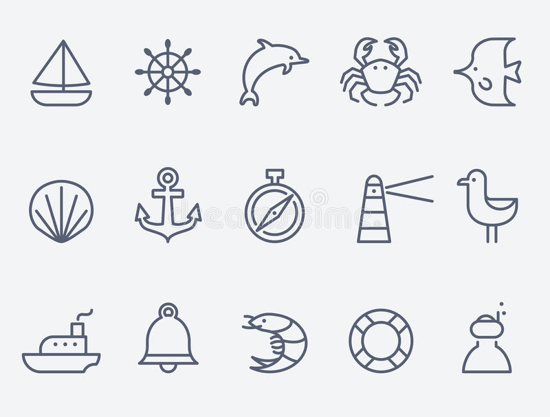 Marine icons vector illustration