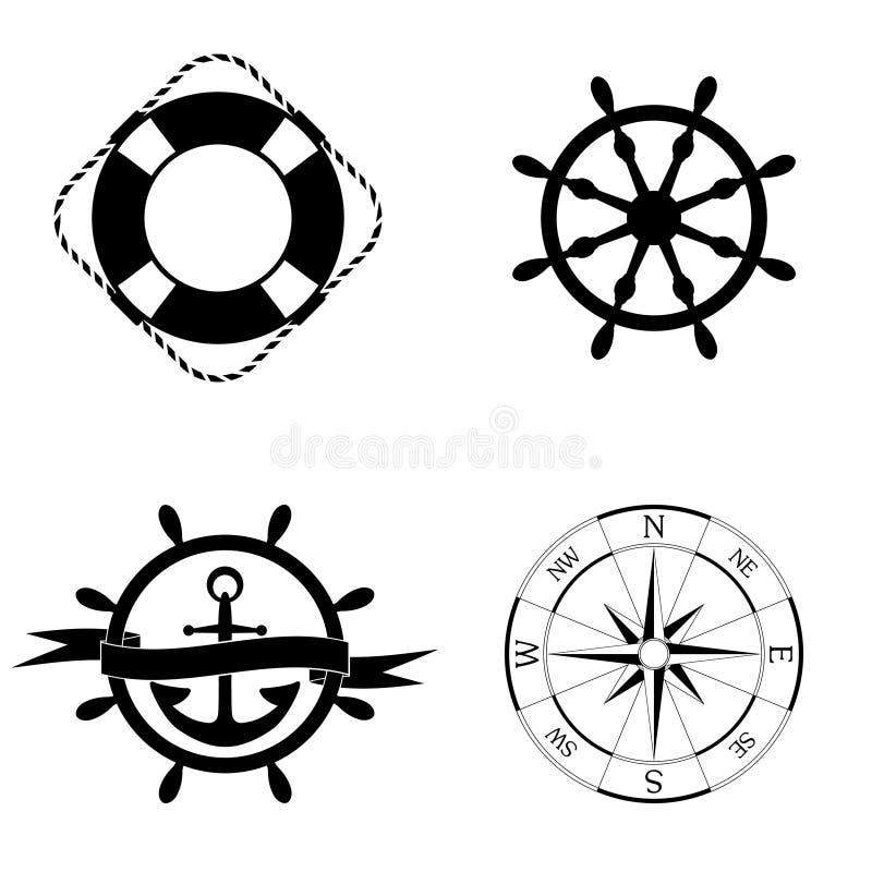 Marine Icons Set imagens de stock