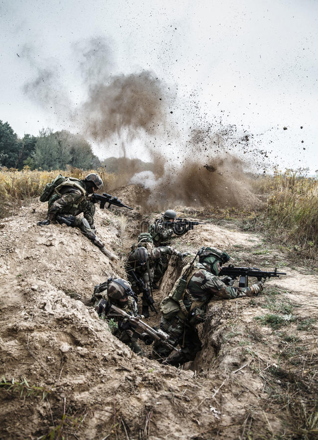 Marine Infantry Parachute Regiment foto de stock royalty free