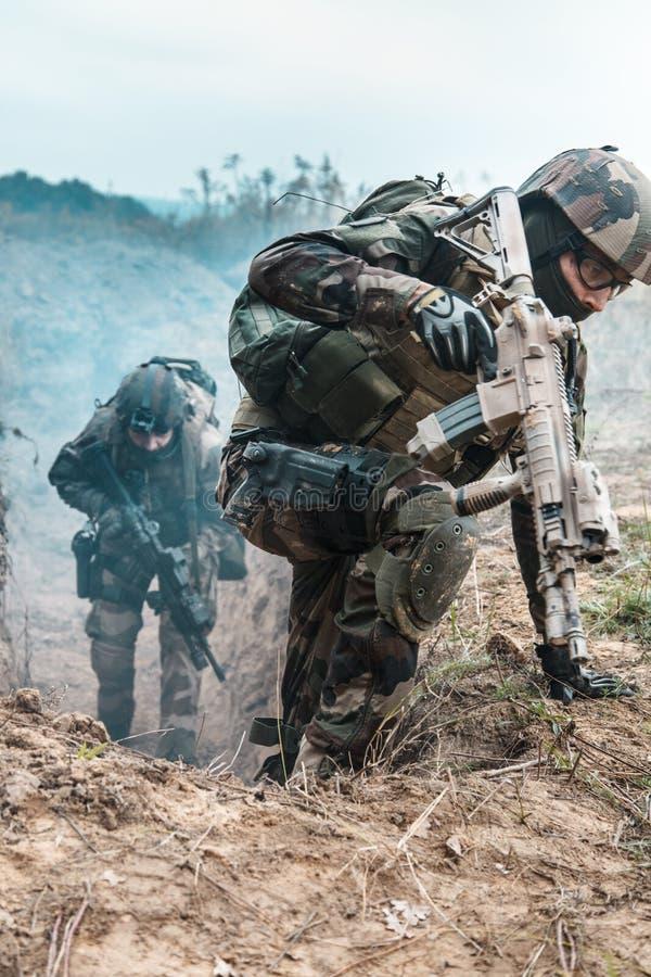 Marine Infantry Parachute Regiment imagem de stock