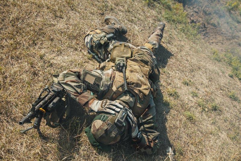 Marine Infantry Parachute Regiment fotografia de stock