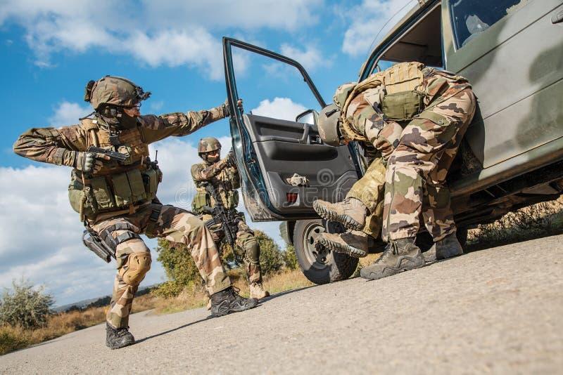 Marine Infantry Parachute Regiment foto de stock
