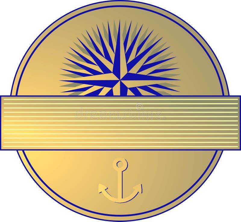 Download Marine Label stock illustration. Image of shiny, indicative - 12126868