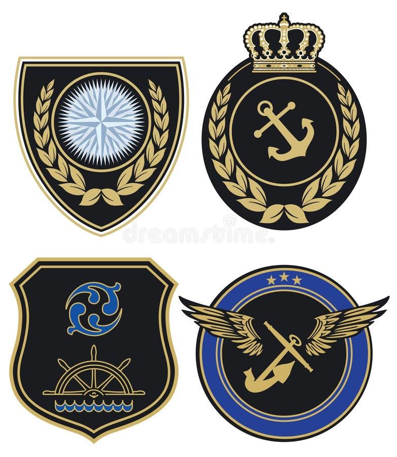 Marine Label vector illustration