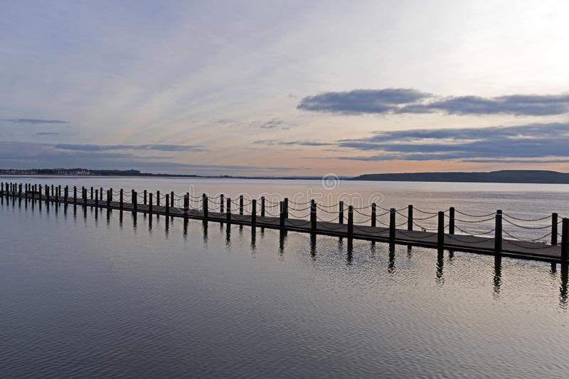 Marine Lake Causeway stockbild