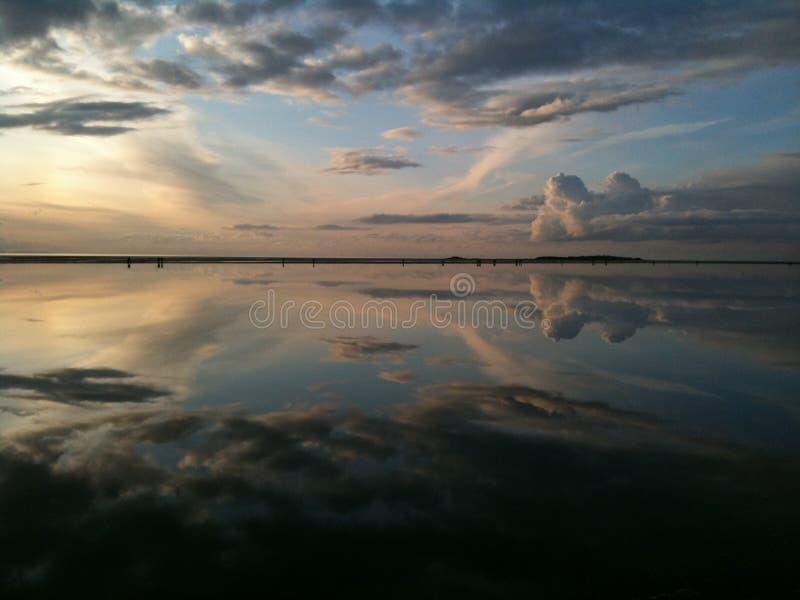 Marine Lake West Kirby Wirral foto de archivo libre de regalías