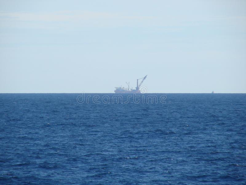 Malaysian territorial waters. Marine landscape from the deck of a cruise ship. stock images