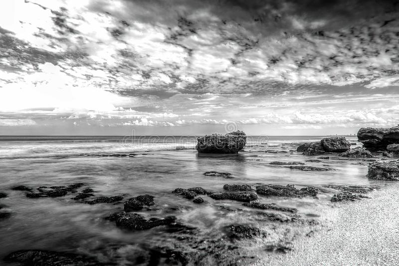 Marine landscape Mar del Plata , Argentina. NBlack and White royalty free stock images