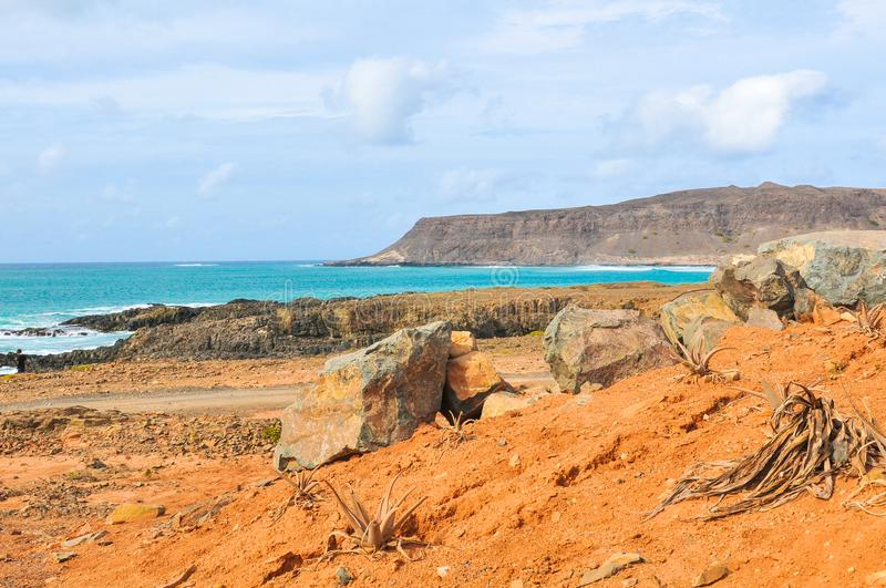 Coastline of Cape Verde, Africa royalty free stock images