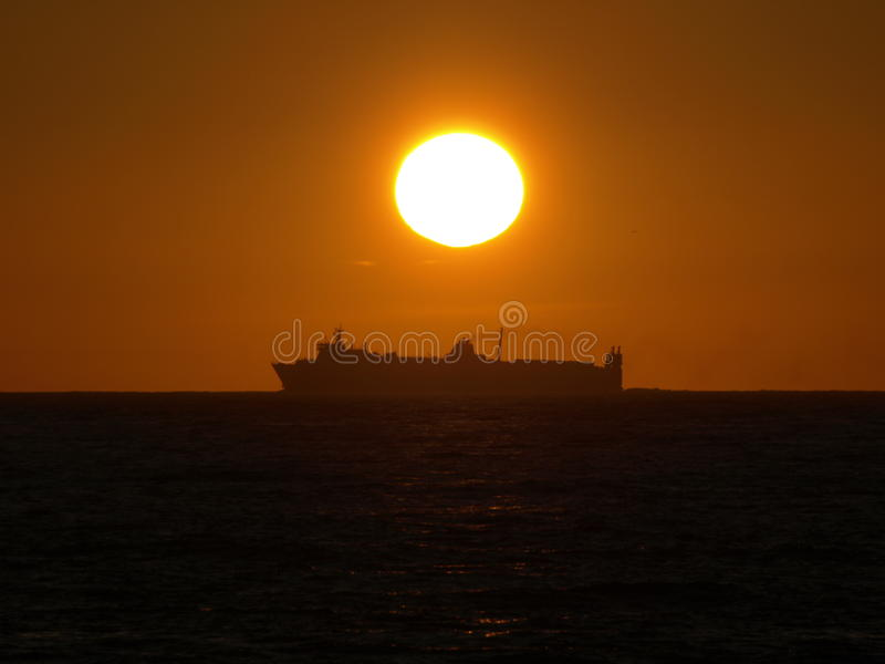 Marine late afternoon royalty free stock photo