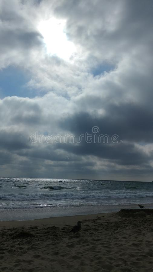 Manhattan Beach. The marine layer begins to roll in in the afternoon royalty free stock images