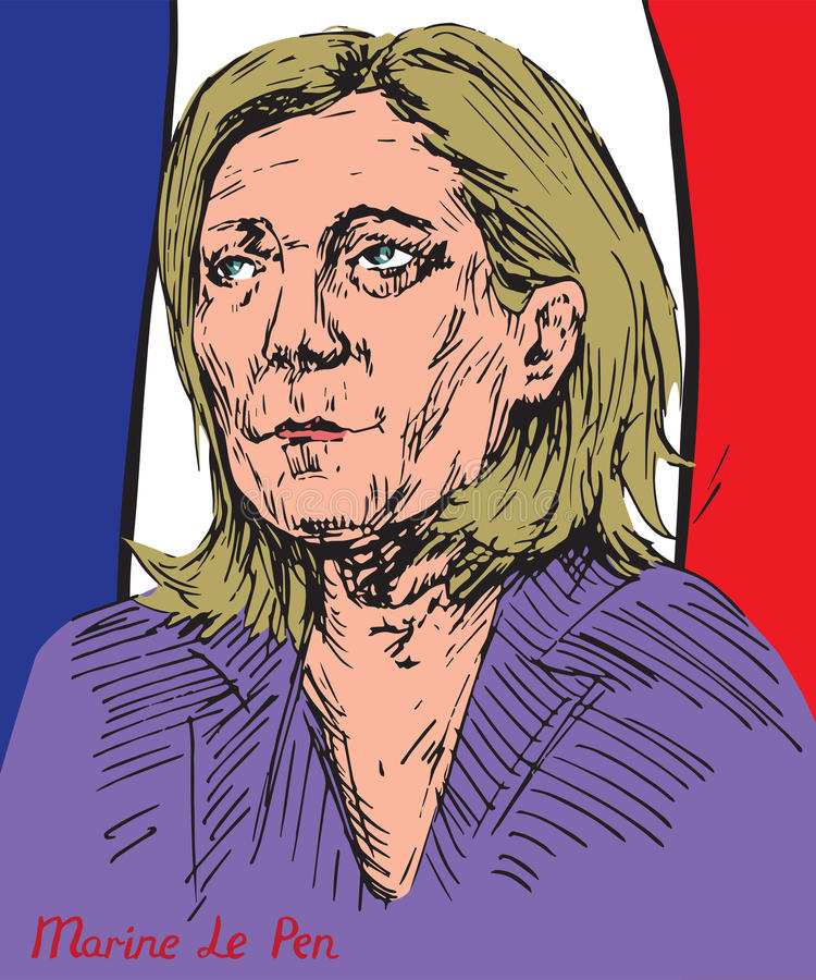 Free Marine Le Pen Marion Anne Perrine Le Pen, French Politician, The President Of The National Front, French Presidential Candidacy Royalty Free Stock Images - 91178529