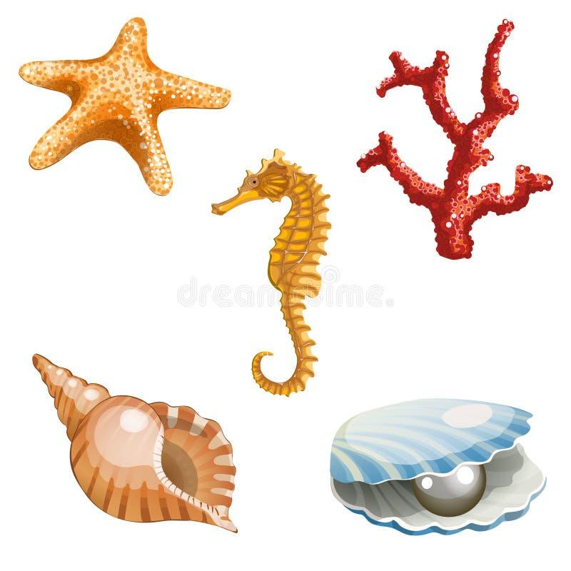 Marine life. Illustration of marine life isolated on white background vector illustration