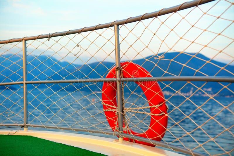 Marine life buoy. At the ship board royalty free stock photos