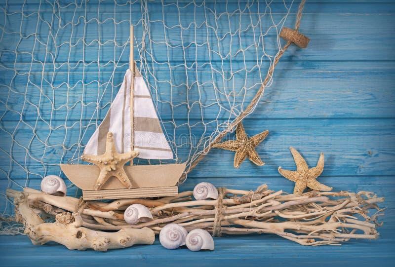 Marine life decoration stock photos