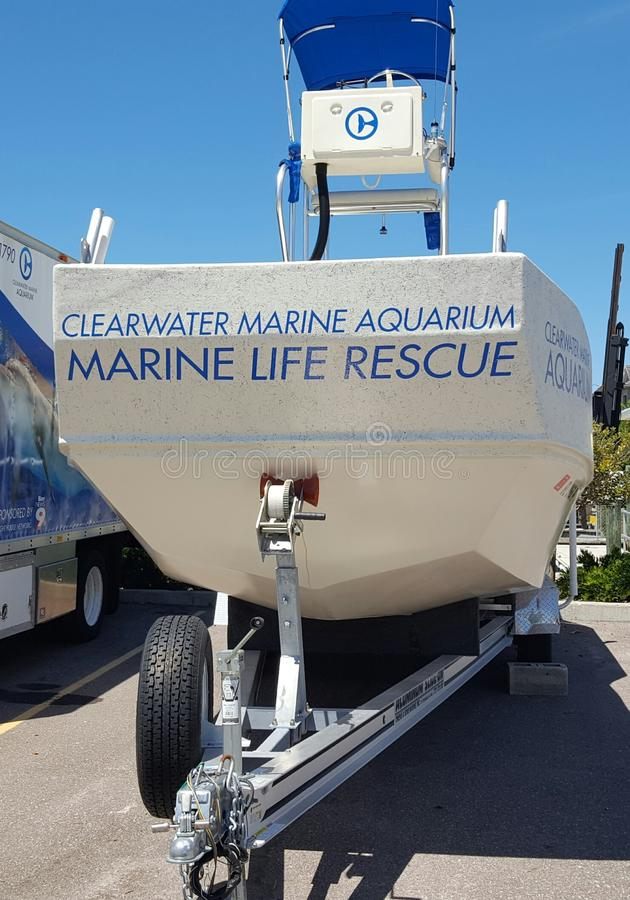 Marine Life Rescue Boat images stock