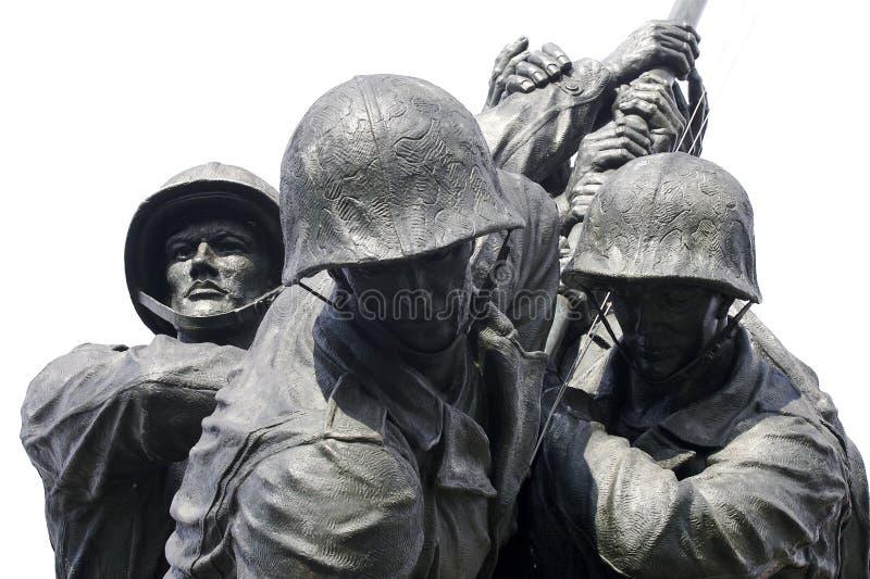 Marine Memorial Iwo Jima stock photo
