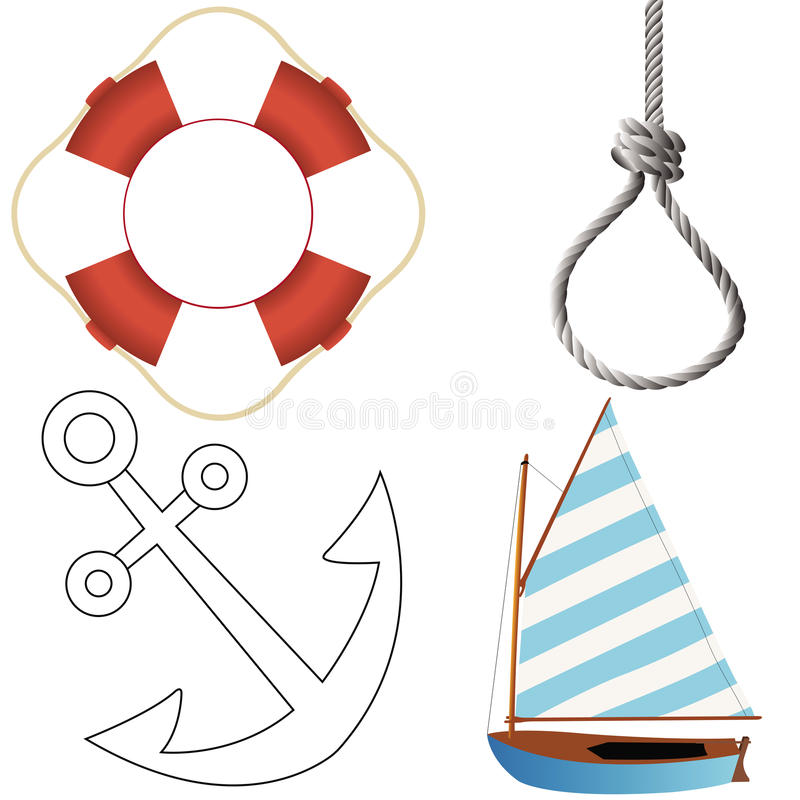 Marine objects set