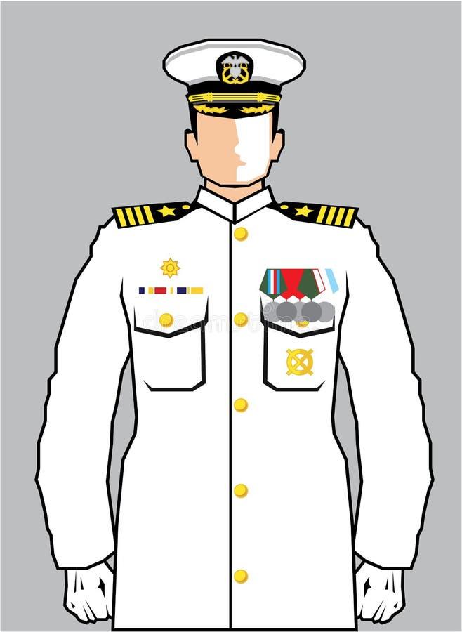 Marine-Offizier stock abbildung