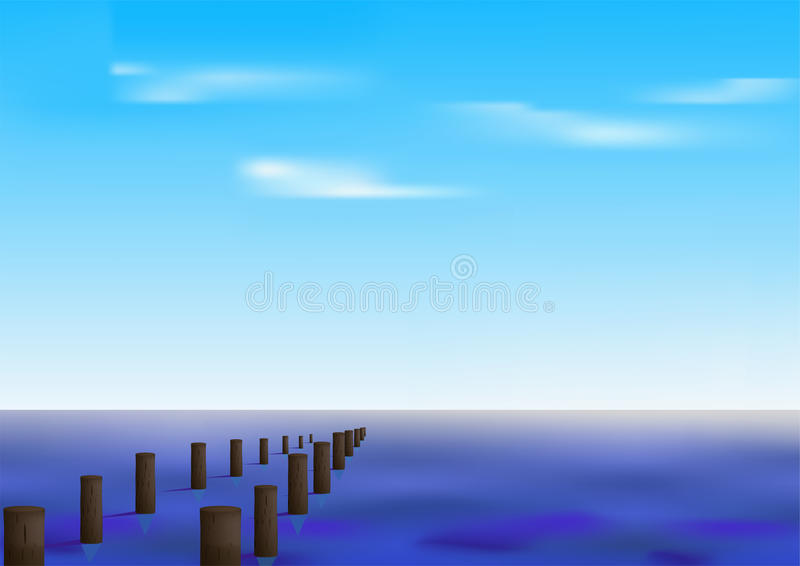 Download Marine panorama stock vector. Image of relaxation, scene - 18770585