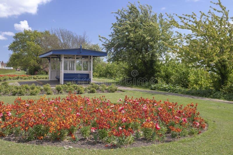 Marine Parade Gardens in Leigh-su-mare, Essex, Inghilterra fotografia stock libera da diritti