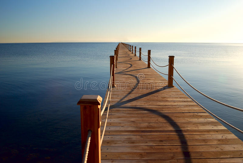 Download Marine pier stock image. Image of orange, sailing, calm - 13735449