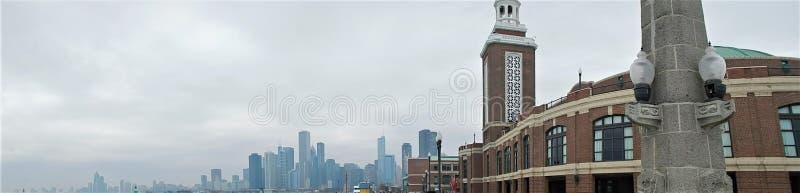 Marine Pier Chicago Panorama stockbilder