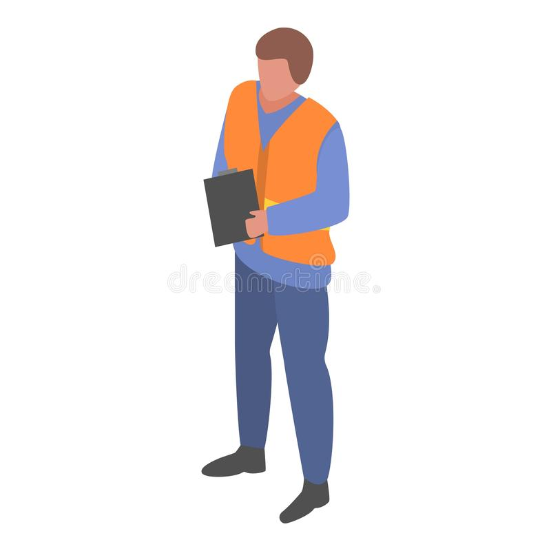 Marine port watcher man icon, isometric style royalty free illustration