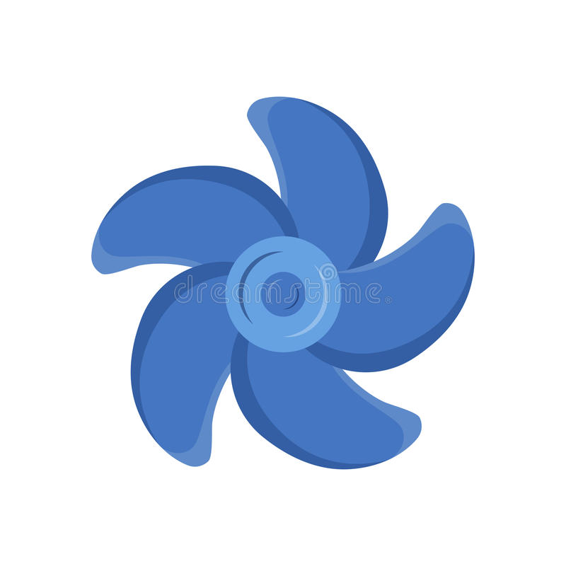 Marine propeller fan vector wind ventilator equipment ship blower cooler rotation technology power circle. Turbines icon propeller fan rotation technology vector illustration