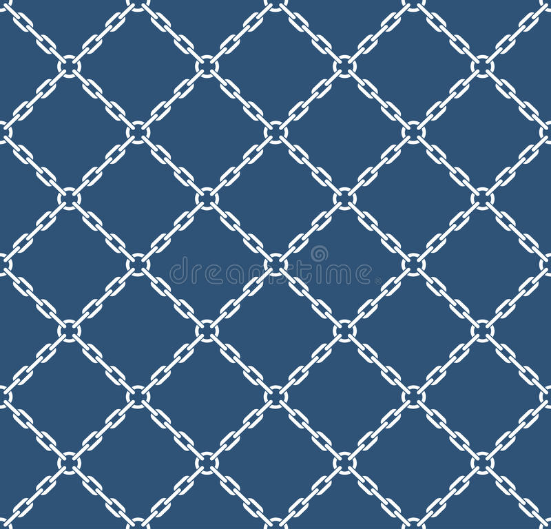 Marine rope knot seamless vector pattern. Nautical design. Navy illustration. Ocean wallpaper stock illustration