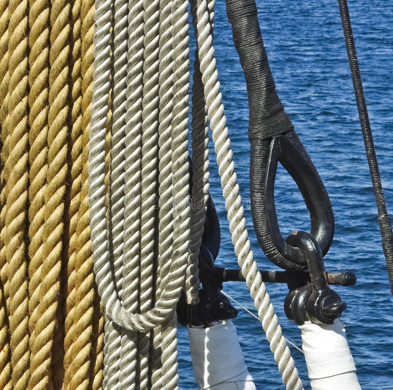 Download Marine ropes stock image. Image of equipment, steering - 22798767