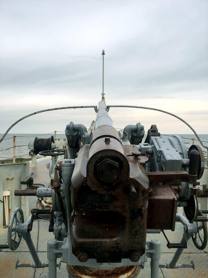 Marine-Schlachtschiff-Gewehr stockfotografie