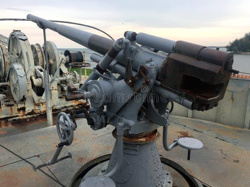 Marine-Schlachtschiff-Gewehr lizenzfreies stockfoto