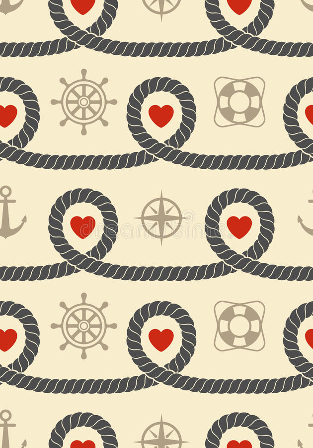 Download Marine Seamless Pattern Stock Image - Image: 25708611
