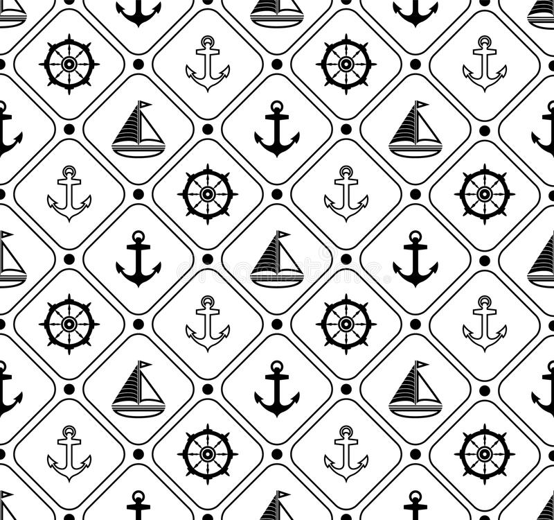 Marine seamless pattern. Suitable for wallpaper, paper, decoration. vector illustration