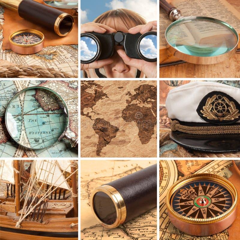 Marine set stock images