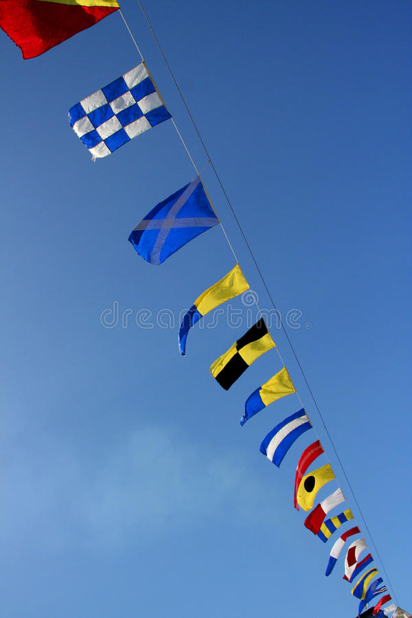 Marine Signal Flags Royalty Free Stock Photos