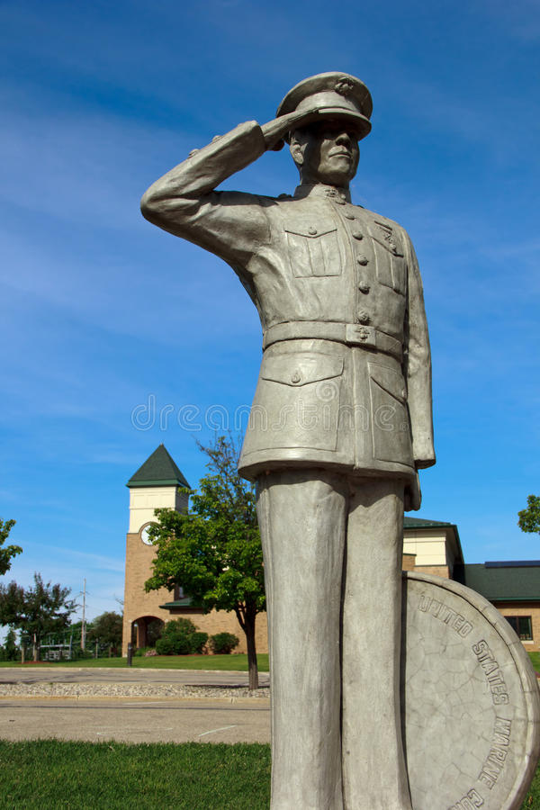 Marine Statue. At Veterans memorial park in Hudsonville Michigan royalty free stock photography