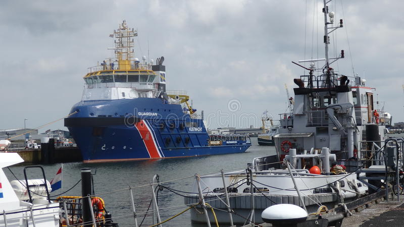 Download Supply vessel  in marina editorial stock image. Image of mooring - 74460874