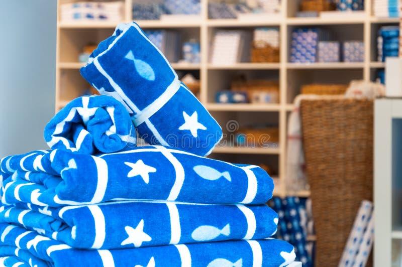 Marine towels stock photos