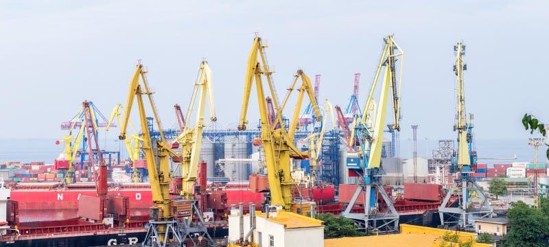 Marine Trade Port Panorama fotografía de archivo libre de regalías