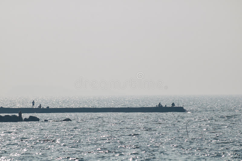 Marine vessels are out fishing royalty free stock images