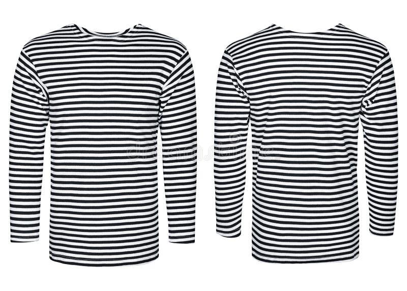 Marine vest, striped shirt vector illustration